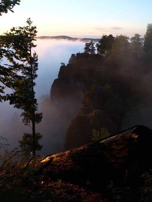 Bastei im Morgengrauen